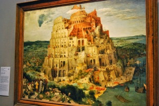 Tabloul lui Brughel cel Batran infatisand   Turnul Babel