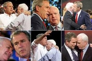 george bush john mccain huggy gay homophobic hypocrites