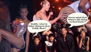 Miley disgusted a few people at the MTV Video Music Awards including the Will Smith clan.